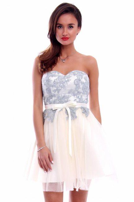 Sukienka gorset z koronką CMW05 ecru