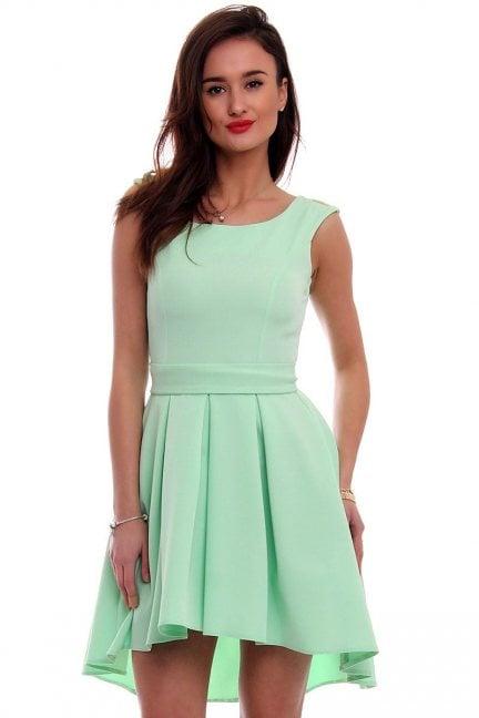 Sukienka asymetryczna CM454 miętowa