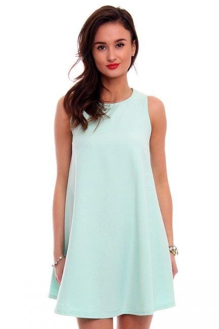 Sukienka rozkloszowana CM492 miętowa