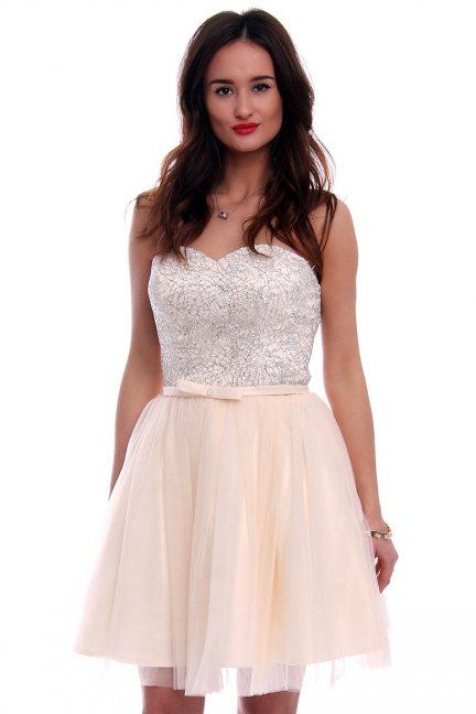 Sukienka tiulowa mini CMW15 ecru