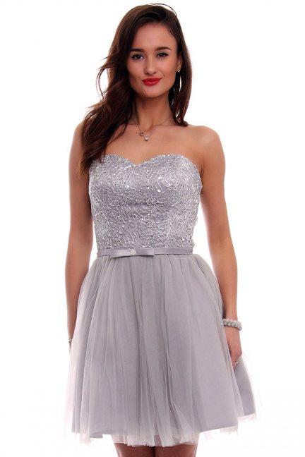 Sukienka tiulowa mini CMW15 szara