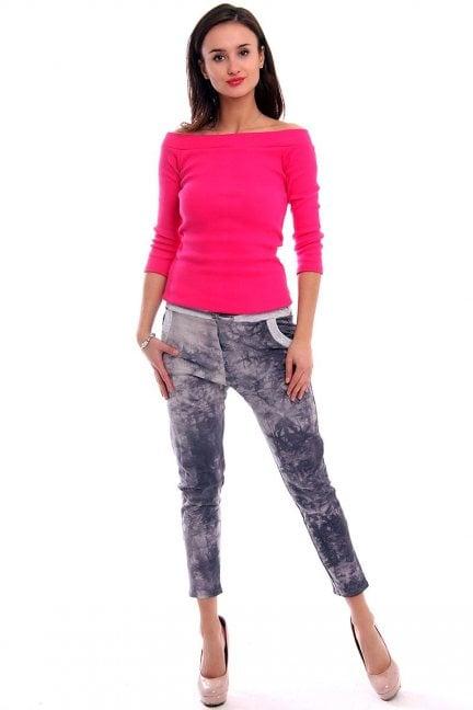 Spodnie dresowe marmurek CM135 szare