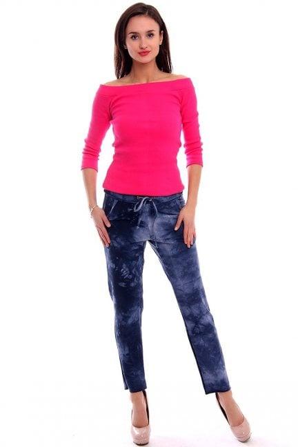 Spodnie dresowe marmurek CM164 niebieskie