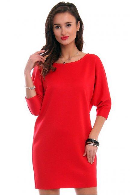 Sukienka mini nietoperz CM546 czerwona