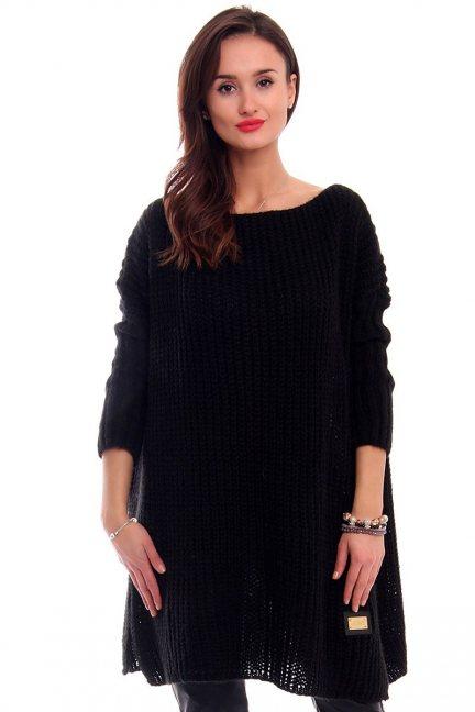 Sweter oversize ciepły CMK2039 czarny