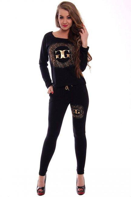 Dres damski z cekinami CMK361 czarny