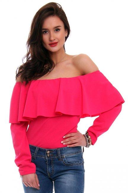 Body damskie hiszpanka CMK363 różowe