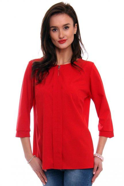 Bluzka damska gładka CMK375 czerwona
