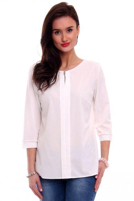 Bluzka damska gładka CMK375 biała