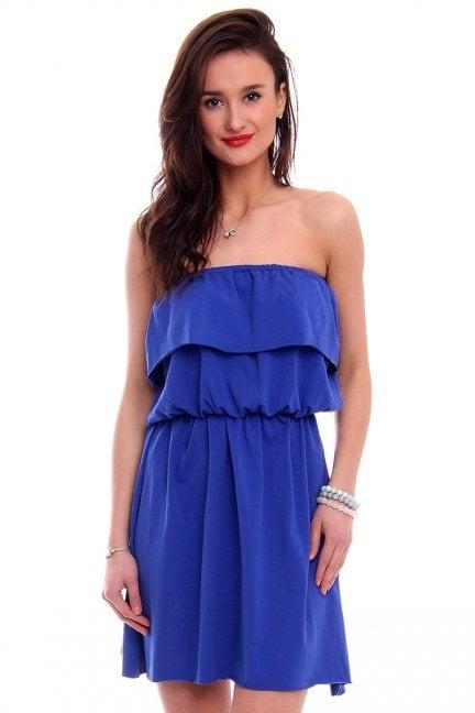 Sukienka hiszpanka mini CM490 chabrowa