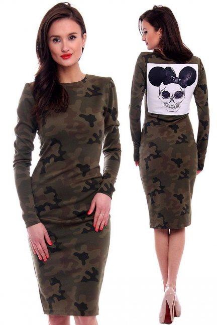 Sukienka moro Minnie CMK381 zielona