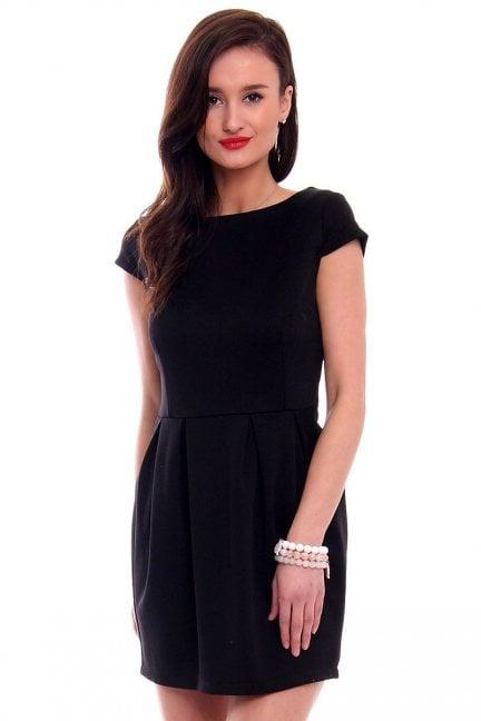 Sukienka bombka mini CM034 czarna