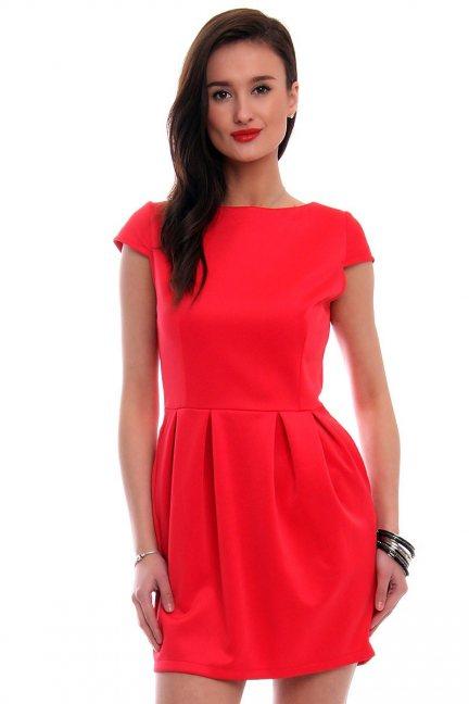 Sukienka bombka mini CM034 czerwona