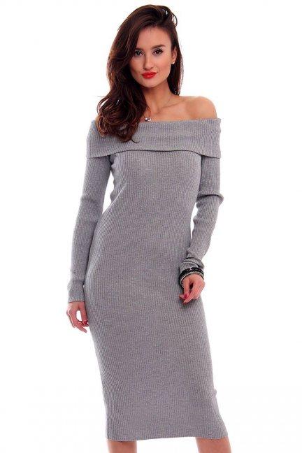 Sukienka ołówkowa midi CMK2025 szara