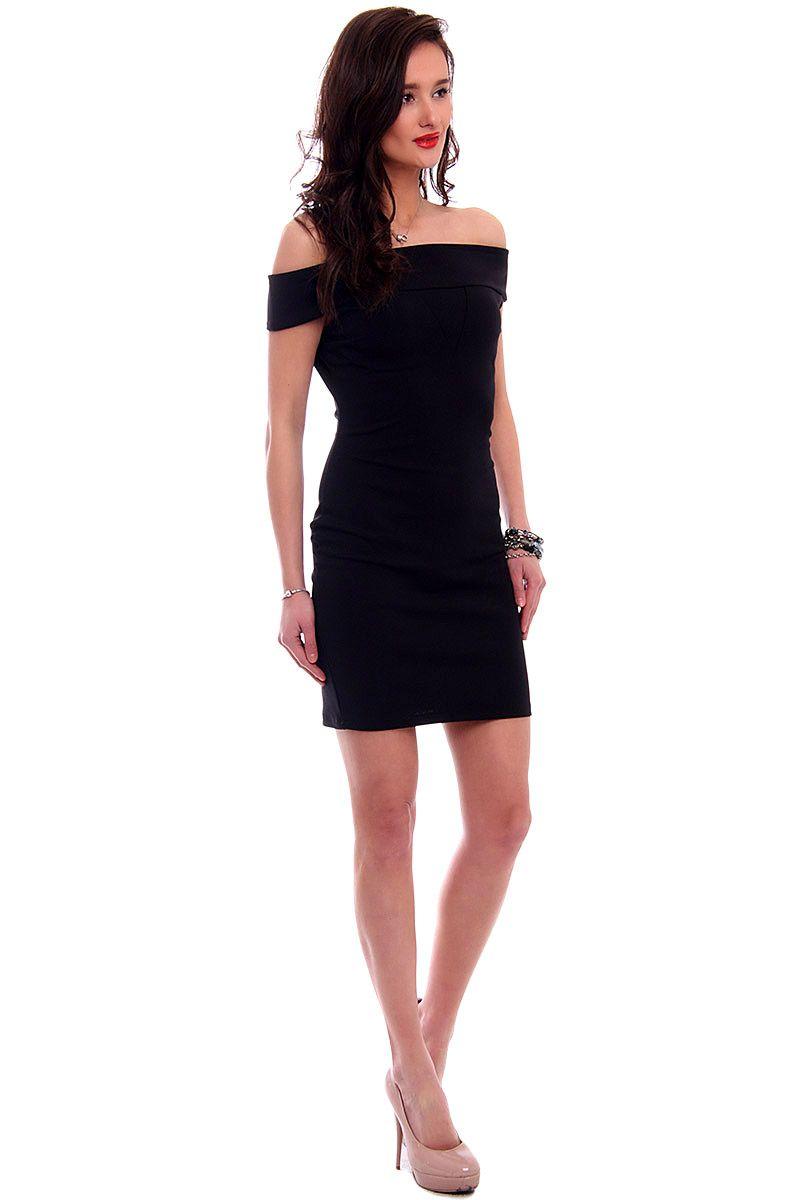 0e5b9684df Sukienka dopasowana mini CM571 czarna sklep internetowy CosmosModa