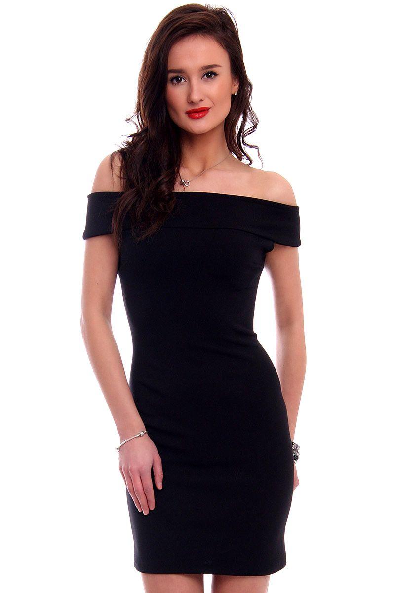 be97c241b6 Sukienka dopasowana mini CM571 czarna sklep internetowy CosmosModa