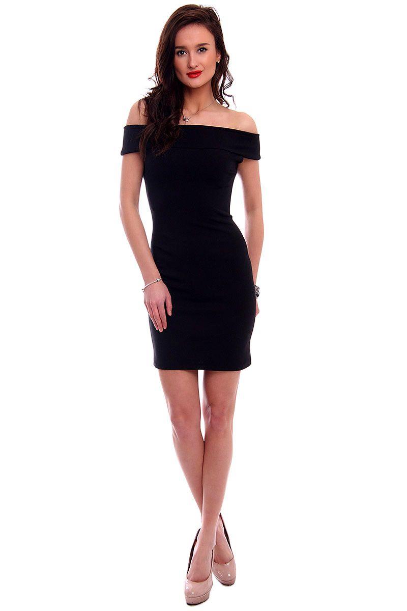 e0348f0993 Sukienka dopasowana mini CM571 czarna  Sukienka dopasowana mini CM571 czarna  ...