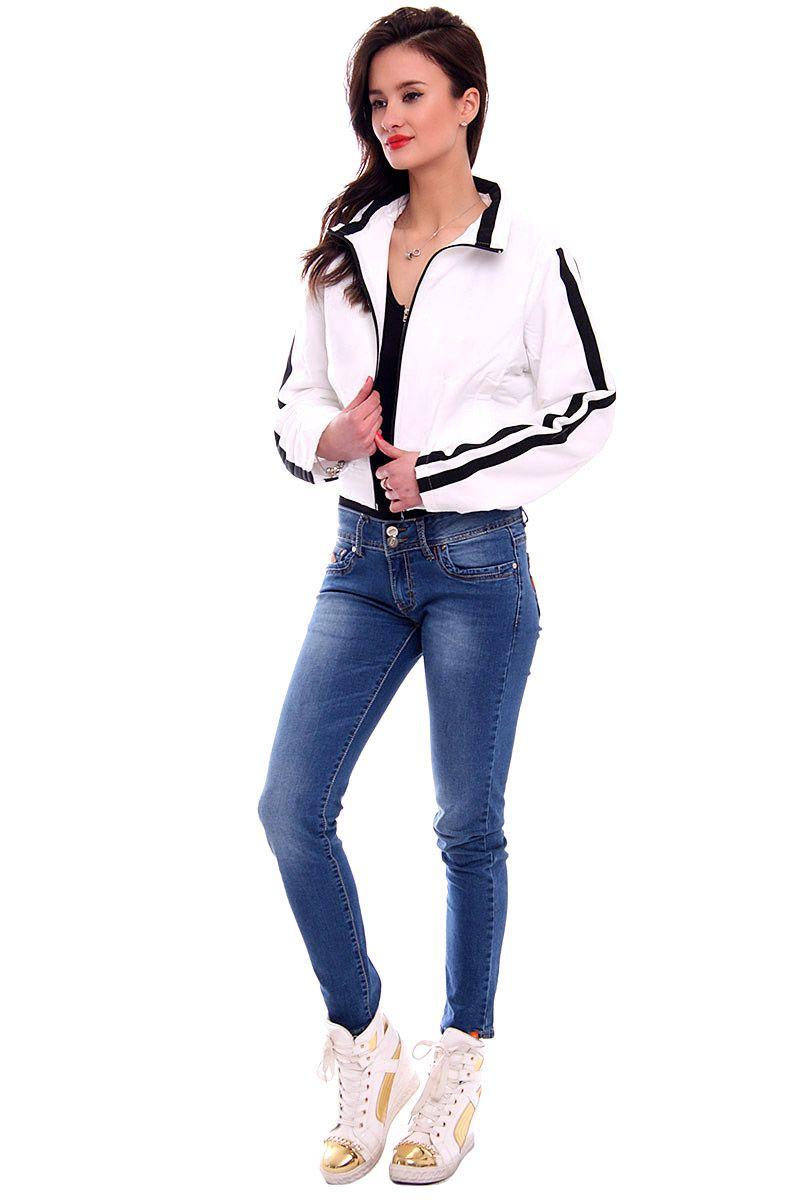 Kurtka damska krótka CM15 biała