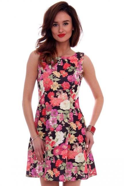 Sukienka rozkloszowana CM260 czerwona