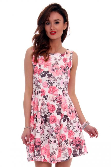 Damska sukienka w kwiaty
