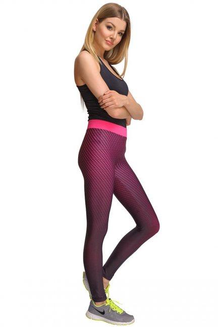 Spodnie damskie ombre CMK432 różowe