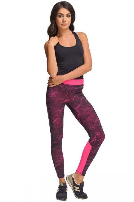 Legginsy sportowe CMK434 różowe