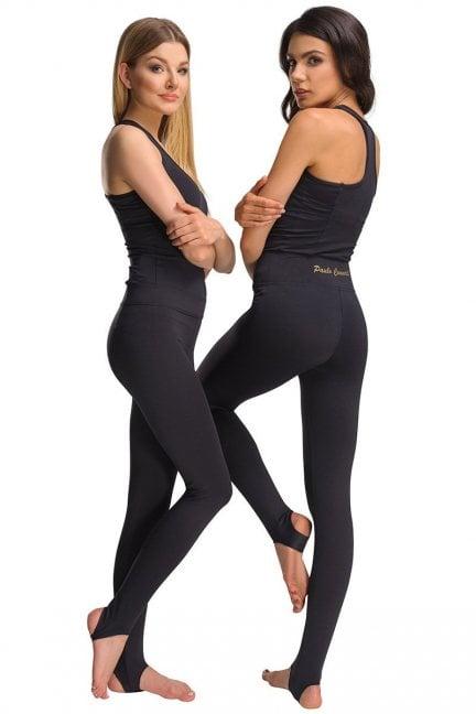 Spodnie sportowe legginsy CMK454 czarne