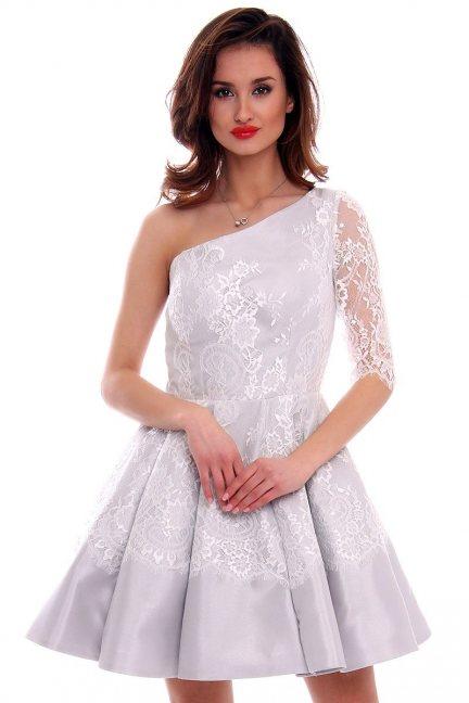 Sukienka rozkloszowana CMW17 szara