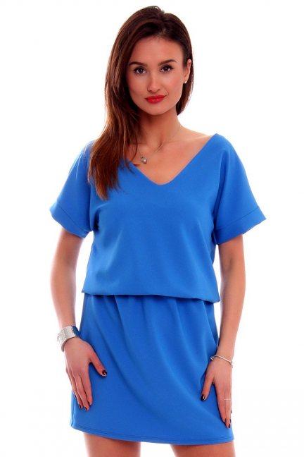 Sukienka damska mini CMK408 niebieska