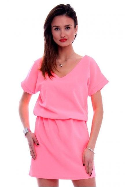 Sukienka damska mini CMK408 różowa