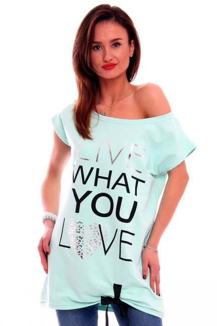 Bluzka Live What You Love CM268 miętowa