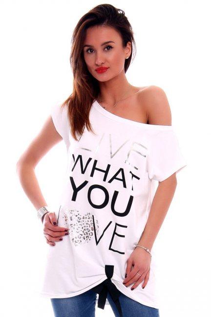 Bluzka Live What You Love CM268 biała