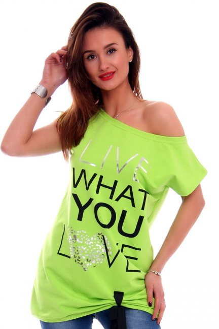 Bluzka Live What You Love CM268 zielona