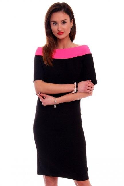 Sukienka ołówkowa midi CM446 czarna