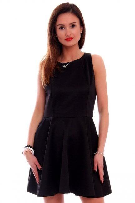 Sukienka rozkloszowana CM228 czarna