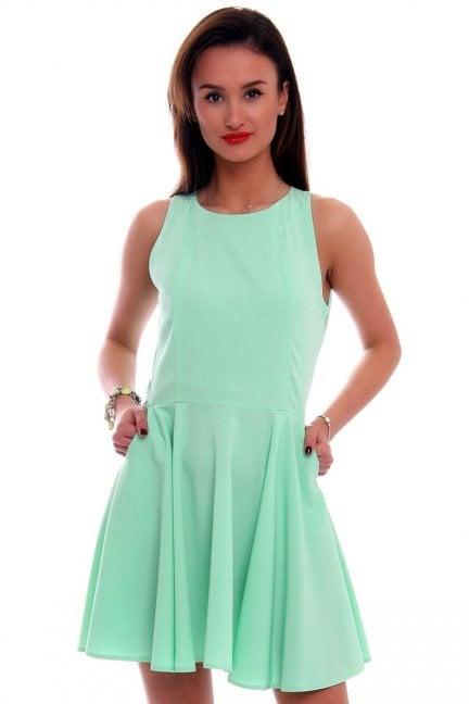 Sukienka rozkloszowana CM228 miętowa