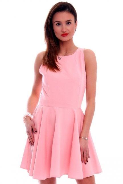 Sukienka rozkloszowana CM228 różowa