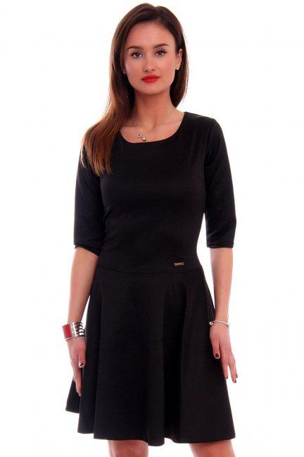 Sukienka rozkloszowana CM199 czarna