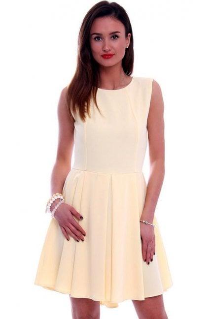 Sukienka asymetryczna CM296 żółta