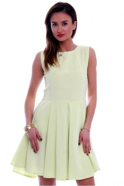 Sukienka asymetryczna CM296 limonka