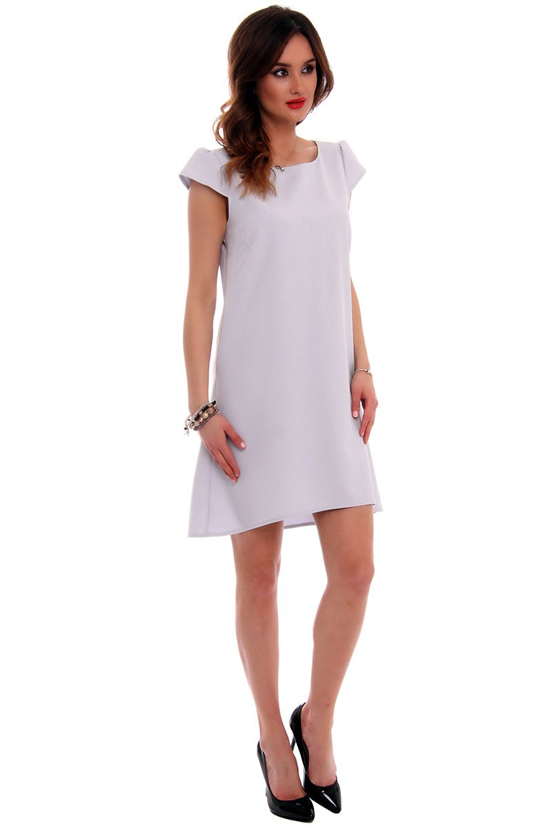 40896d8ef2 Sukienka asymetryczna CMK517 szara  Elegancka sukienka mini  Sukienka  asymetryczna damska  Szara sukienka damska  Sklep z modną ...