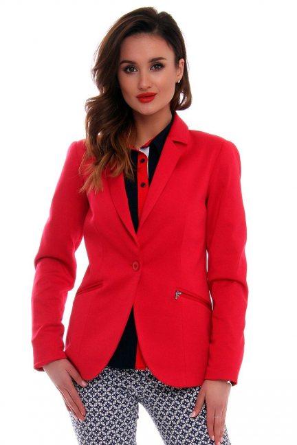 Marynarka damska żakiet CMK527 czerwona