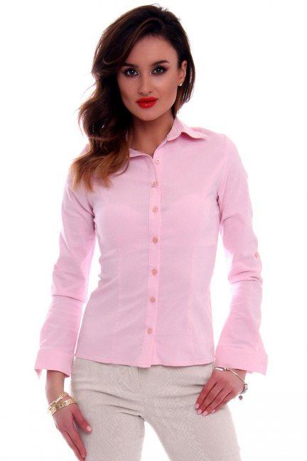 Koszula damska gładka CMK69 różowa