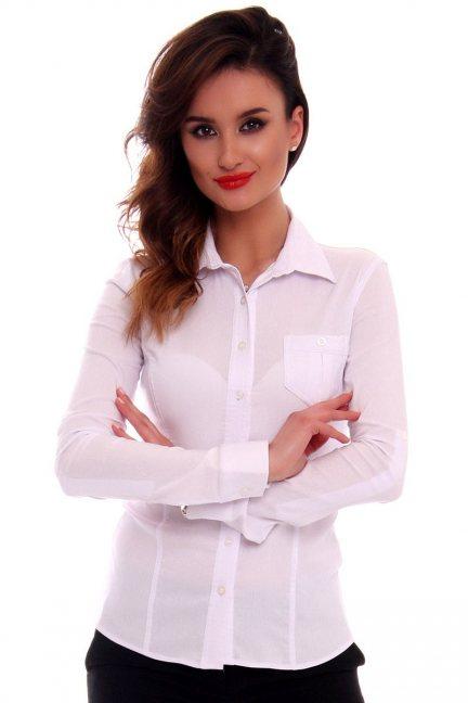 Koszula damska gładka CMK70 biała