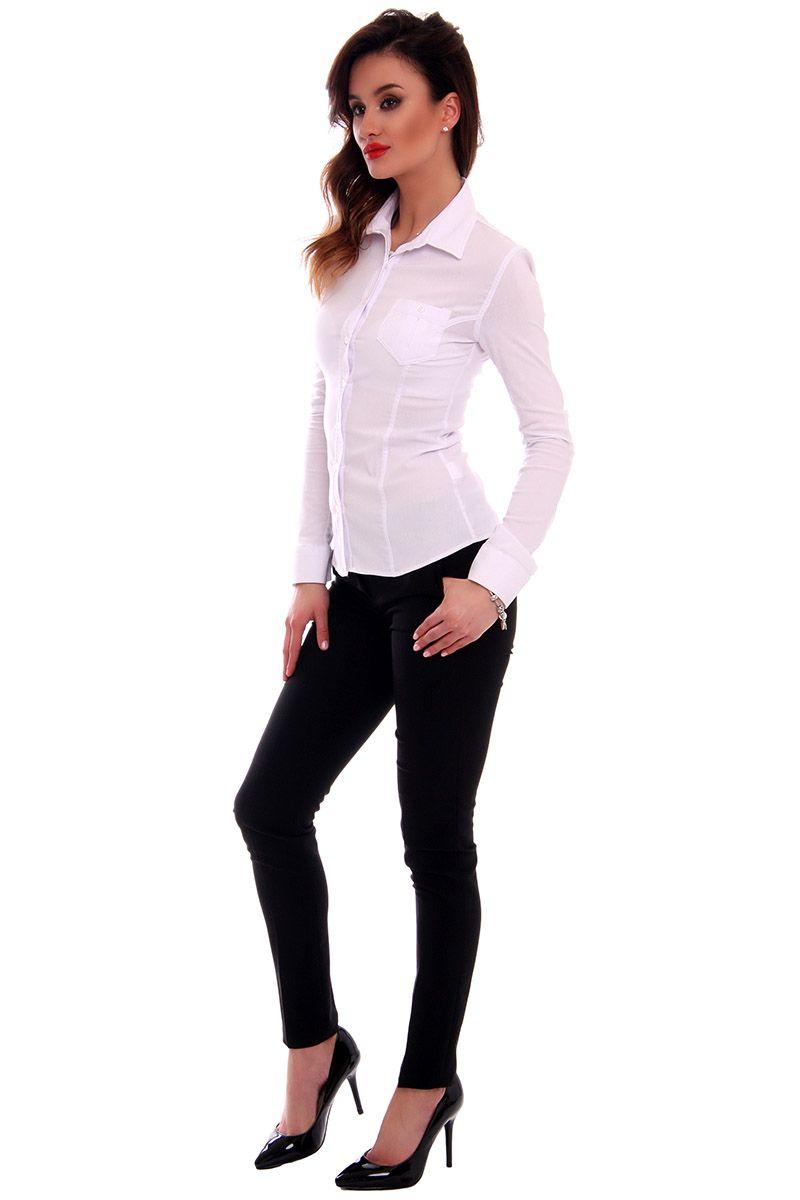 Koszula gładka CMK70 biała damskie koszule w sklepie online  iKAi9