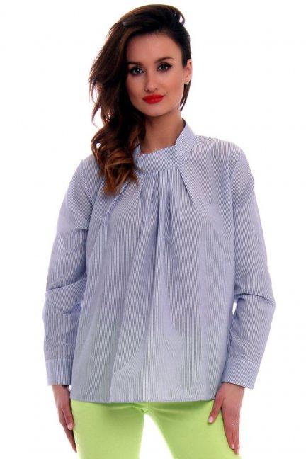 Bluzka oversize zakładki CMK530 niebieska