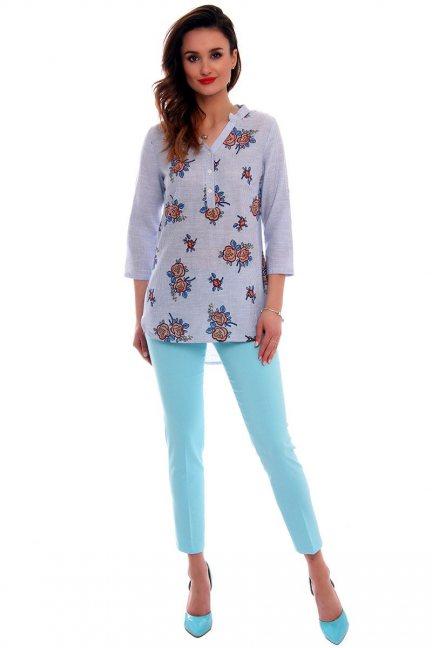 Spodnie z kieszeniami CMK538 błękitne