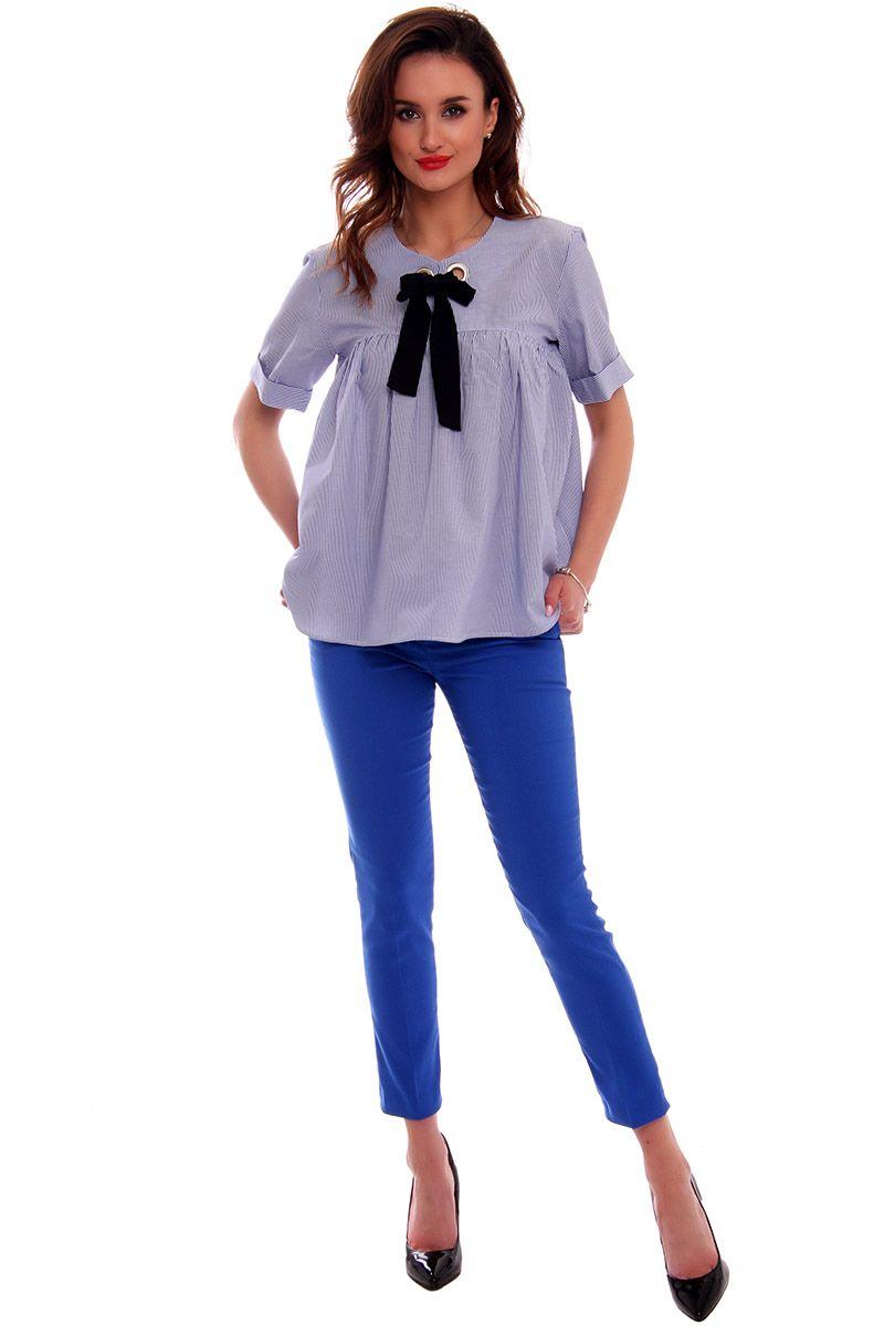 18800418ed Spodnie z kieszeniami CMK538 chabrowe odzież damska online CosmosModa