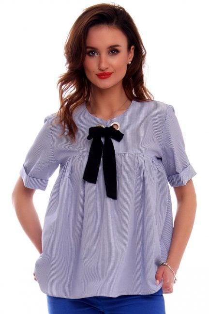 Bluzka damska CMK536 niebieska