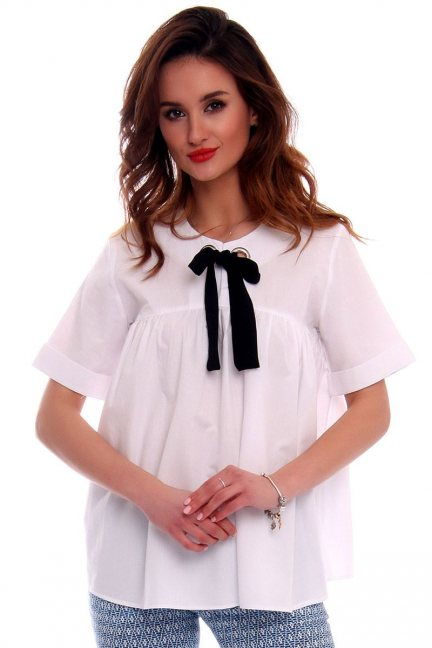 Bluzka damska CMK536 biała
